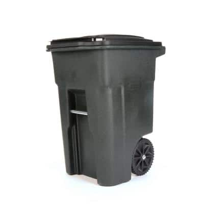 48 Gal. Greenstone Trash Can with Wheels and Attached Lid