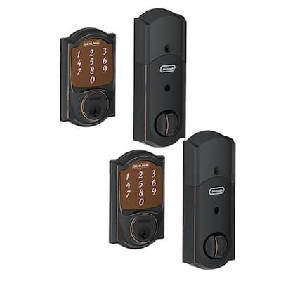 Camelot Aged Bronze Sense Smart Door Lock (2-Pack)