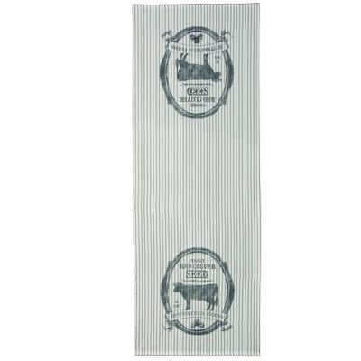 Farmhouse 20 in. W x 54 in. L Tan Floral Cotton Table Runner