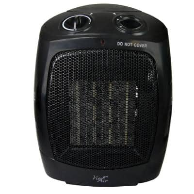 1,500-Watt Electric Portable Ceramic Heater with Adjustable Thermostat