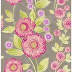 Bloom Pink Floral Pink Wallpaper Sample