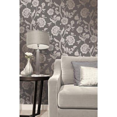 Quartz Bronze Floral Wallpaper Border Sample