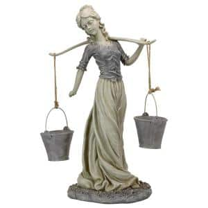 29.5 in. H Magdalene the Danish Milkmaid Garden Woman Statue