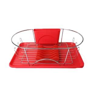 17 in. Dish Rack in Red
