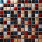 Ibiza Multi 11.81 in. x 11.81 in. Square Joint Gloss Glass Mosaic Wall Tile (0.97 sq. ft./Ea)