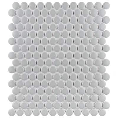 Metro Penny Matte Light Grey 9-3/4 in. x 11-1/2 in. Porcelain Mosaic Tile (15.94 sq. ft./Case)