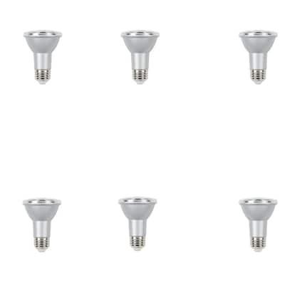 50W Equivalent Daylight PAR20 Dimmable LED Flood Light Bulb (6 Pack)