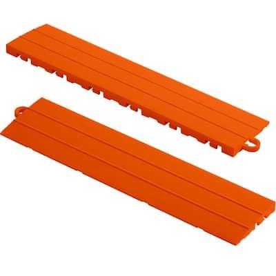 12 in. x 2.75 in. Tropical Orange Pegged Polypropylene Ramp Edging for Diamondtrax Home Modular Flooring (10-Pack)