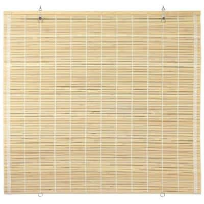 Oriental Furniture Bamboo Cordless Window Shade Natural 72 in. W x 72 in. L