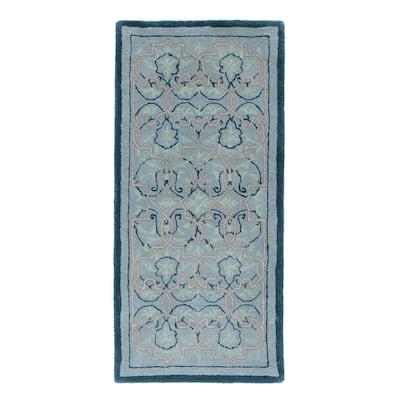 "44"" L Rectangle Multicolored Wool Indoor Hearth Rug w/Turkish Tabriz Pattern"