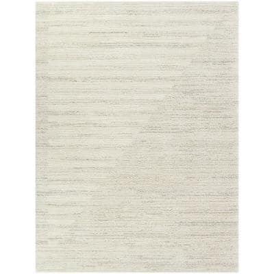 Paxton Ivory 5 ft. x 7 ft. Stripe Shag Area Rug