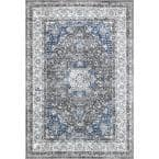Verona Vintage Persian Dark Gray 7 ft. x 9 ft. Area Rug