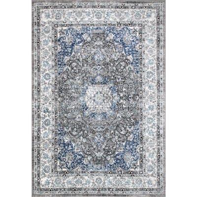 Verona Vintage Persian Dark Gray 8 ft. x 10 ft. Area Rug