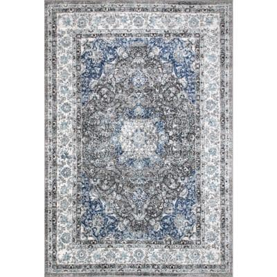 Verona Vintage Persian Dark Gray 9 ft. x 12 ft. Area Rug