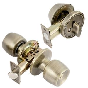 Malaga Single Cylinder Antique Brass Combo Set