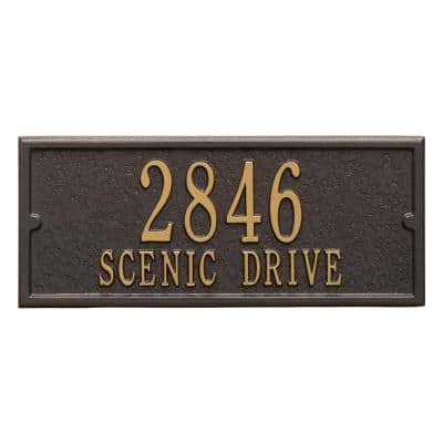 Mailbox Side Panel in Bronze/Gold