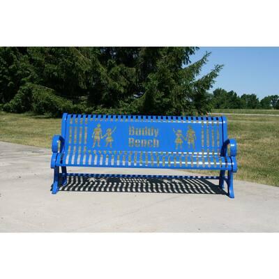 6 ft. Blue Premium Buddy Bench