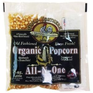 8 oz. Certified Organic Old Fashioned Popcorn Portion Packs (18-Pack)