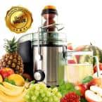 Stainless Steel Chrome Wide Mouth Juice Extractor, Juice Machine with Dual Speed Centrifugal Juicer