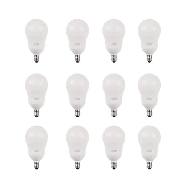 Feit Electric 40 Watt Equivalent A15 Candelabra Dimmable Cec Title 20 90 Cri White Glass Ceiling Fan Light Bulb Daylight 12 Pack Bpa1540c 950ca 2 6 The Home Depot