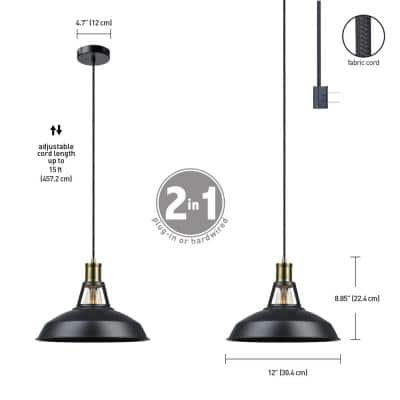 Robin 1-Light Satin Black Pendant