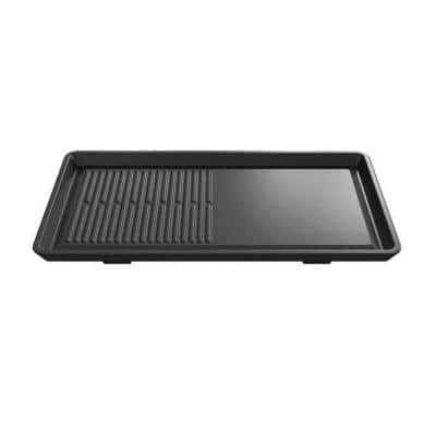 Tri-Ring 1-Piece Black Cast Iron Non-Stick Grill Griddle
