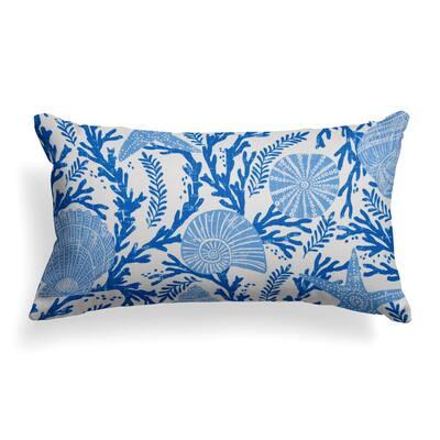 Coral Reef Rectangular Lumbar Outdoor Throw Pillow