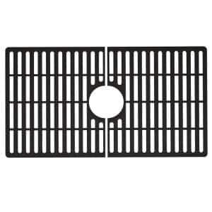 27 in. x 15 in. Silicone Bottom Grid for 30 in. Single Bowl Composite Kitchen Sink in Matte Black