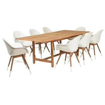 Amazonia Charlotte 9-Piece Wood Rectangular Outdoor Dining Set