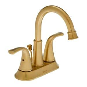 Bettine 4 in. Centerset 2-Handle High-Arc Bathroom Faucet in Matte Gold