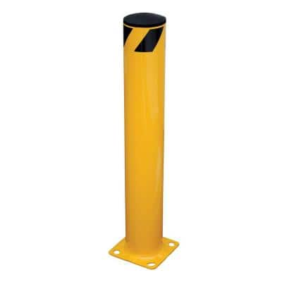 36 in. X 5.5 in. Yellow Steel Pipe Safety Bollard