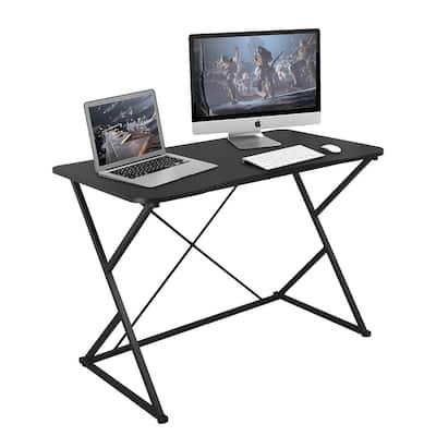 43 in. Rectangular Black Gaming Desk Computer Table
