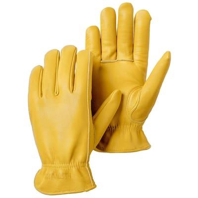 Goatskin Drivers Size 10 Tan Leather Gloves