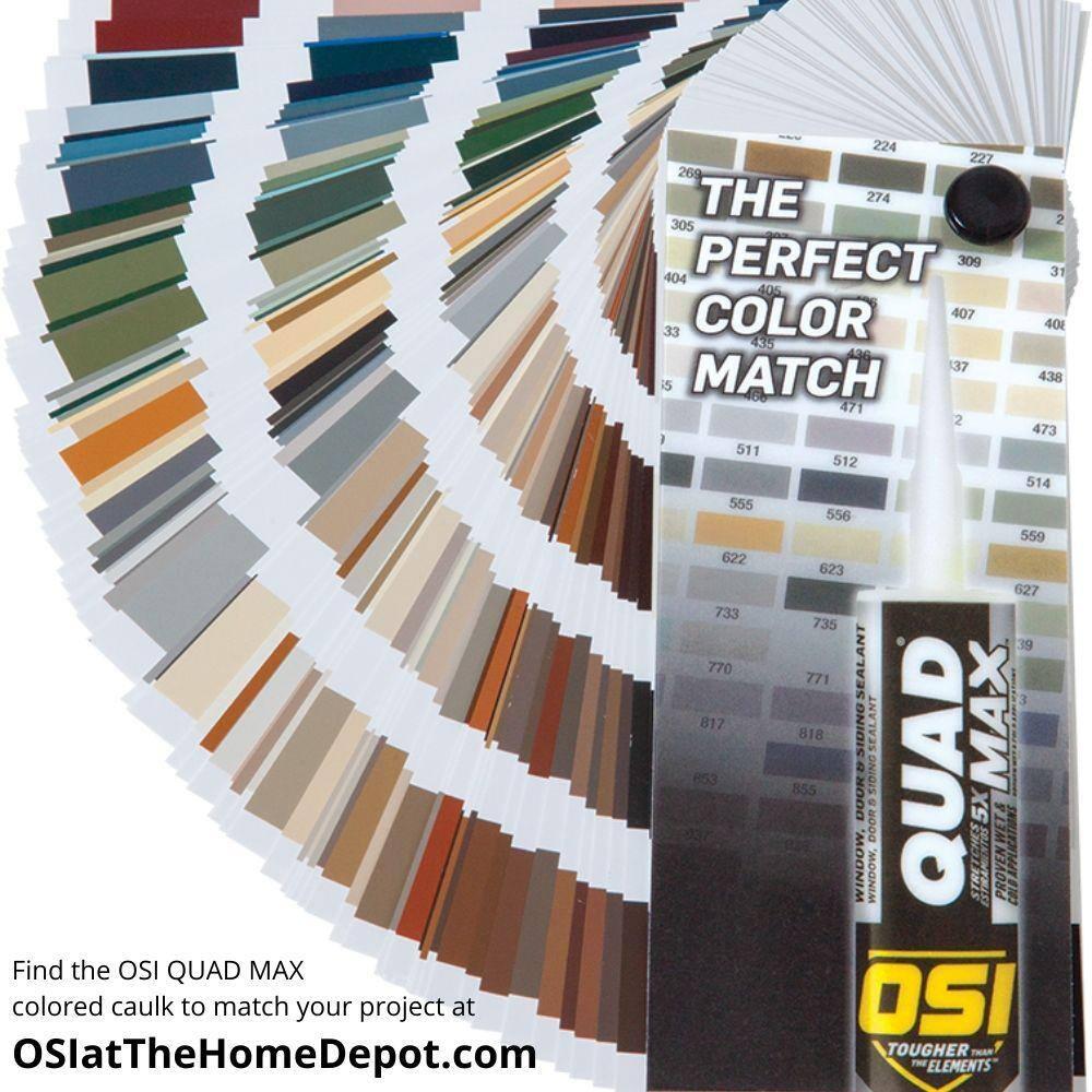 Osi Quad Max 9 5 Fl Oz Brown 201 Exterior Interior Window Door Siding Sealant 12 Pack 1868690 The Home Depot