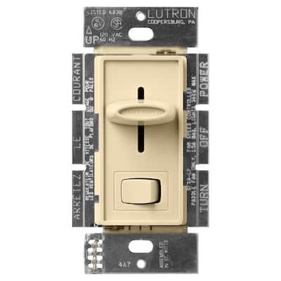 Skylark 1.5 Amp Single-Pole 3-Speed Slide-to-Off Fan and Light Control - Ivory