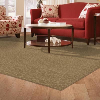 Pattern Perry Canoe Texture 6 ft. x 9 ft. Bound Carpet Rug