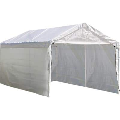 10 ft. W x 20 ft. D Sidewalls and Doors Kit for Max AP White Canopy with UV-Resistant Fabric and 100% Waterproof Seams