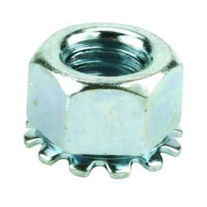 #10-24 Coarse Zinc-Plated Steel Keep Lock Nut (4 per Bag)