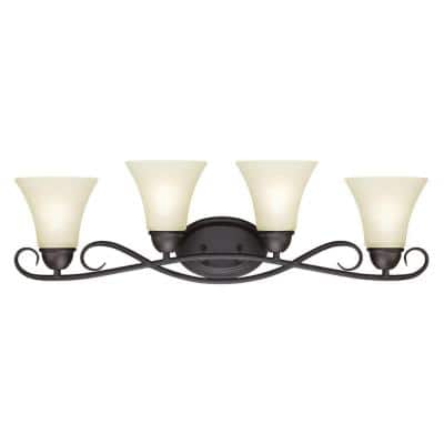 Dunmore 4-Light Oil Rubbed Bronze Wall Mount Bath Light