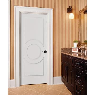 Carved C3140 Smooth 3-Panel Primed MDF Interior Door Slab