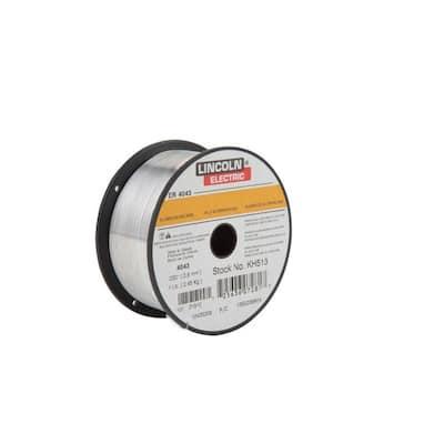 .030 in. Superglaze ER4043 Aluminum MIG Welding Wire for Heat Treatable Base Alloys (1 lb. Spool)