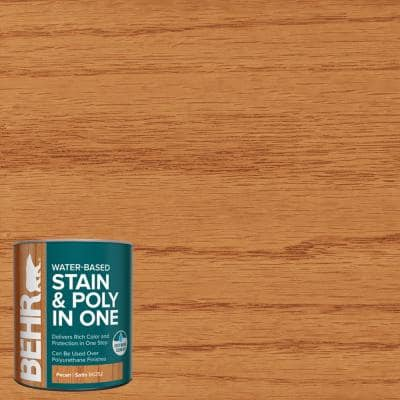 1 qt. #TIS-352 Pecan Satin Semi-Transparent Water-Based Interior Stain and Poly in One