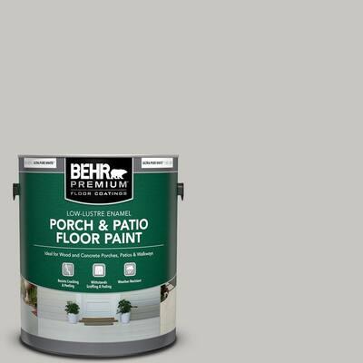 1 gal. #PPU24-16 Titanium Low-Lustre Enamel Interior/Exterior Porch and Patio Floor Paint