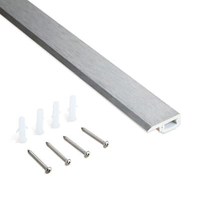 ClipTrim Brushed Stainless Steel 8 ft. Aluminum Self-Adhesive Tile Edging Trim