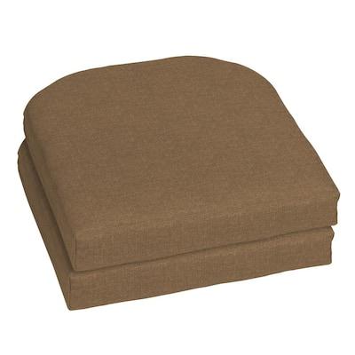 18 x 18 Sunbrella Cast Teak Outdoor Chair Cushion (2-Pack)