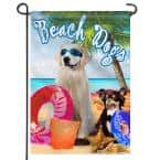 18 in. x 12.5 in. Garden Flag Dogs in Glasses Decorative Summer Beach Garden Flags Double Sided