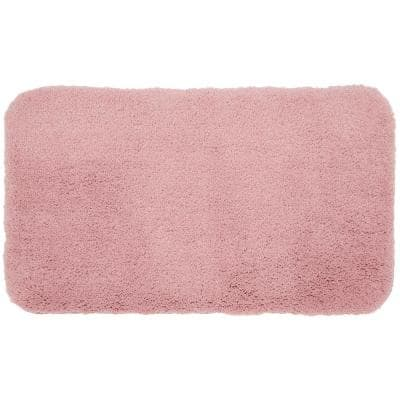 Pure Perfection Rose 24 in. x 40 in. Nylon Machine Washable Bath Mat