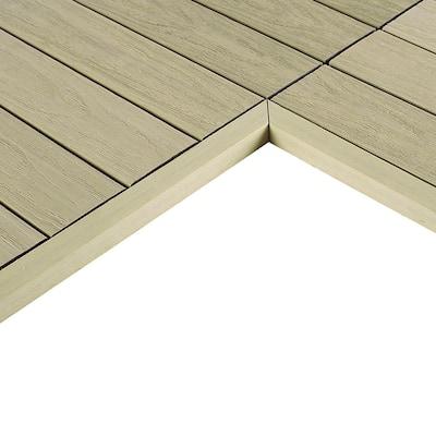 1/6 ft. x 1 ft. Quick Deck Composite Deck Tile Inside Corner Trim in Sahara Sand (2-Pieces/Box)