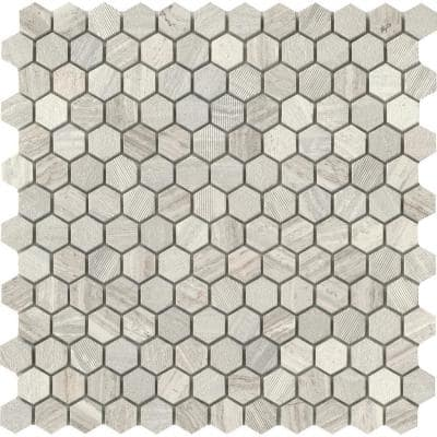 Marble Cream 12.01 in. x 12.13 in. Honeycomb Honed Limestone Mosaic Tile (0.978 sq. ft./Each)