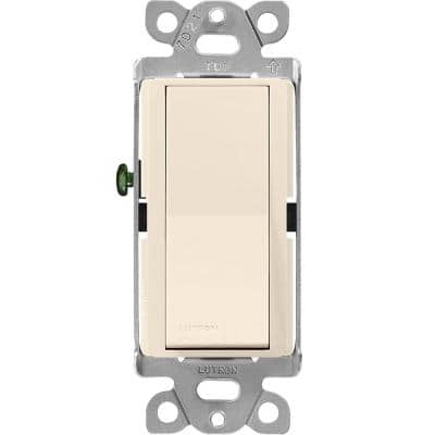 Claro On/Off Switch,15-Amp, 3-Way, Light Almond